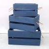 Caja madera Azul grande