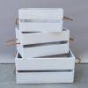 Caja madera blca mediana