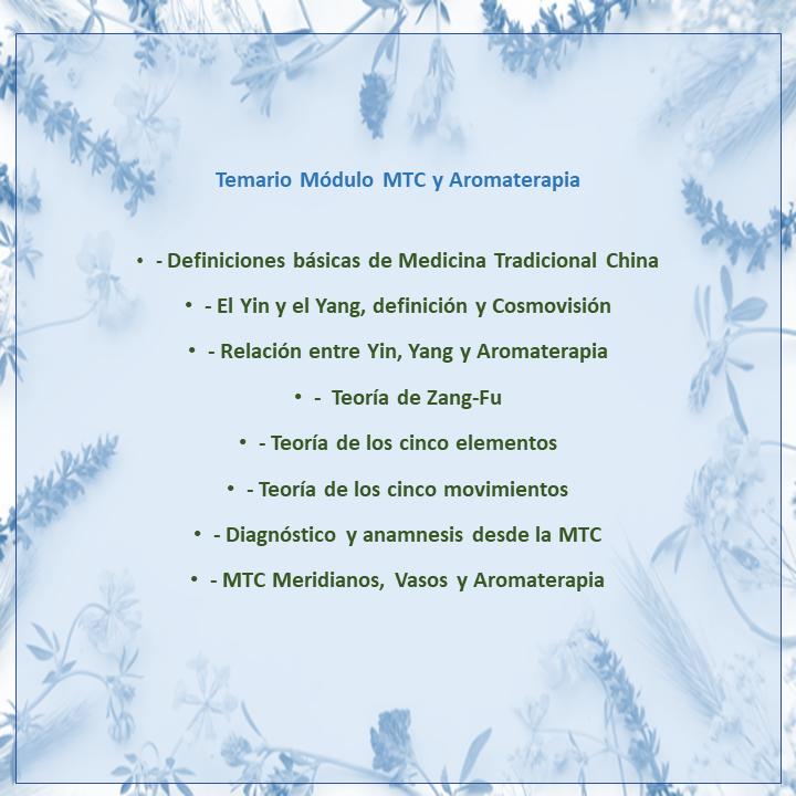 6. Aromaterapia y Medicina Tradicional China