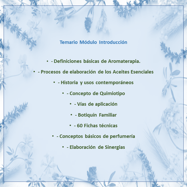 1. Introducción a la Aromaterapia