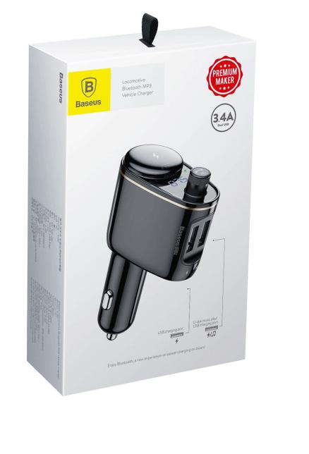 CARGADOR AUTO  2 USB 3.4A RH01 BASEUS