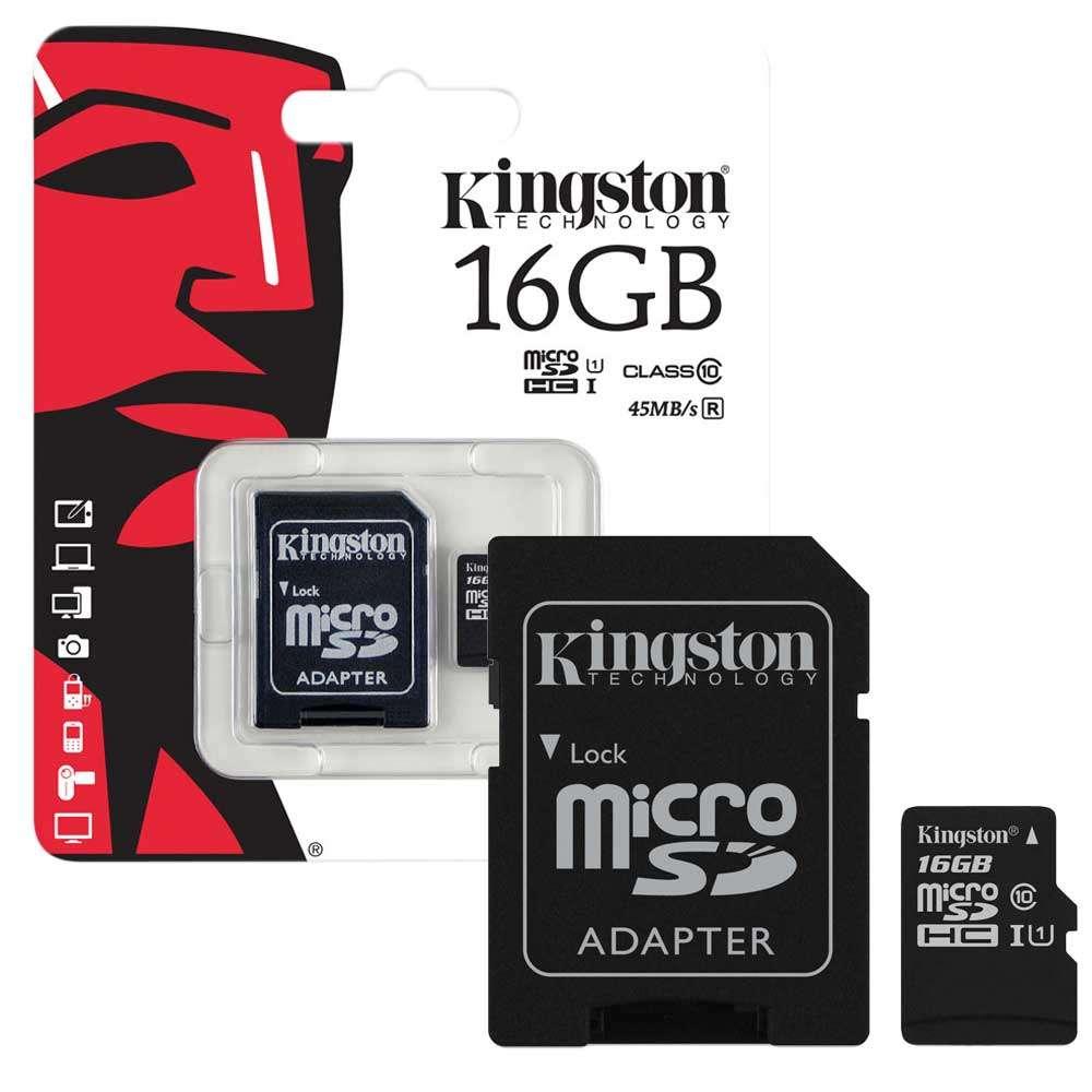 MICRO SD 16 GB CLASE 10