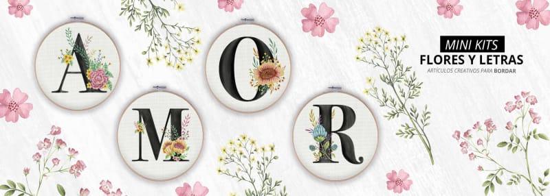 mini kits letras y flores