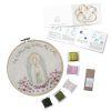 Mini Kit para bordar Virgen de Lourdes