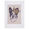 Lienzo para bordar Bulldog con corona