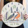 Lienzo Pato Cortacorrientes con Bastidor de 30cm