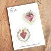 Set Stickers Sagrado Corazón de Jesús y María