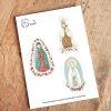 Set Stickers Virgen del Carmen- Guadalupe- Lourdes