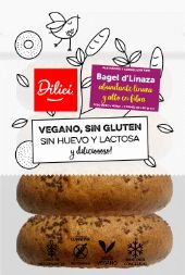 Pan Bagel de Linaza S/Gluten Dilici