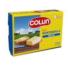 Mantequilla Colun 250g Sin Sal