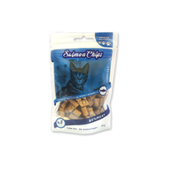 SALMON CHIPS FOR CATS, 50 GRS